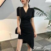 小性感連身裙女夏新款設計感超仙修身連身裙小心機夜店包臀裙 范思蓮恩