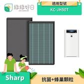 綠綠好日 抗菌濾芯 蜂巢顆粒 適用 夏普 SHARP KC-JH50T KC-JH50T-W KC-JH50T-B 空氣清淨機