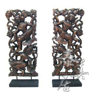 工藝品 家居擺設 木雕擺件跳舞者雕花擺件