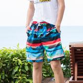 海灘褲 泳褲 沙灘褲寬鬆五分速乾游泳海邊蜜月度假沖浪短褲花褲衩 免運