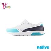 native水鞋 男鞋 休閒鞋 洞洞鞋 休閒鞋 懶人鞋 LENNOX BLOCK M9412#白綠◆OSOME奧森鞋業