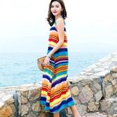 大碼洋裝 沙灘裙波西米亞長裙泰國海邊度假寬鬆仙大擺巴厘島連身裙夏