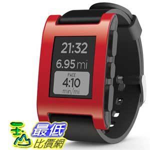 [104美國直購] Pebble 紅色 B00EULMBZC 智能手錶  for iPhone and Android Devices $5501