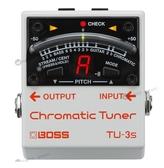 【小麥老師樂器館】BOSS 全系列現貨 BOSS TU-3S 地板式 單顆 調音器 TU3S