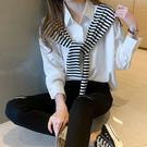 長袖襯衫 上衣假兩件設計感襯衫女裝新款秋季日系風格穿搭上衣 3308 N502 胖妞衣櫥