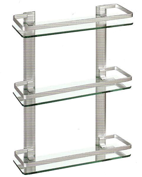 【麗室衛浴】G-035-2 鋁合金  三層置物架 40*13CM