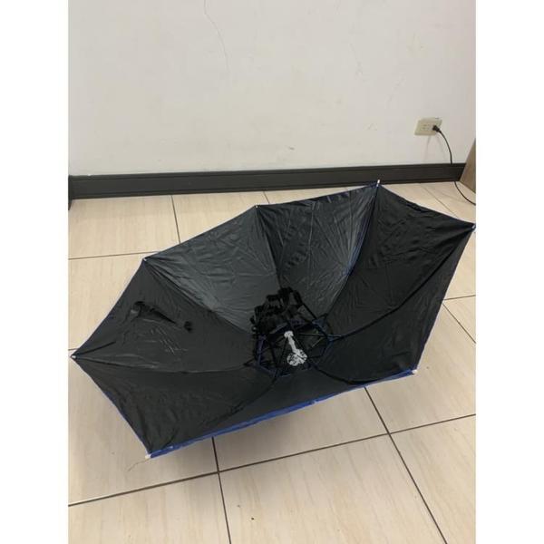 頭戴式雨傘遮陽傘防曬折疊雨傘帽遮陽釣魚帽(80公分/@777-10732)