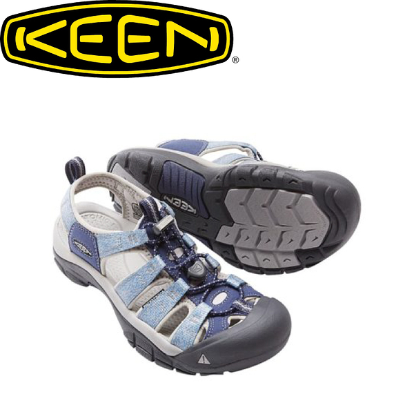【KEEN 美國 女款 護趾涼鞋《深藍/淺藍》】1016574/水陸兩用鞋/涼鞋/休閒涼鞋
