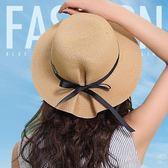 帽子 布塔草帽女夏天防曬遮陽帽子韓版可折疊太陽帽休閒百搭沙灘帽出遊 夢藝家