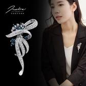 胸針 胸花簡約別針 女韓國奢華大氣外套大衣時尚開衫飾品百搭配飾