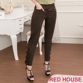 【RED HOUSE 蕾赫斯】交叉造型素面長褲(共2色)