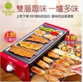 火辣上市110v 大號(3-8人)多功能不粘鍋分離式電烤盤igo  優家小鋪