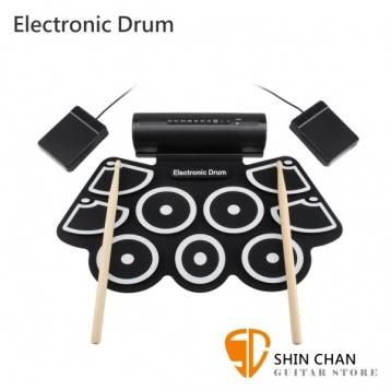 Electronic Drum MD760 手捲電子鼓/爵士鼓 好收納/初學者超適用/附多項配件【MD-760】附原廠變壓器