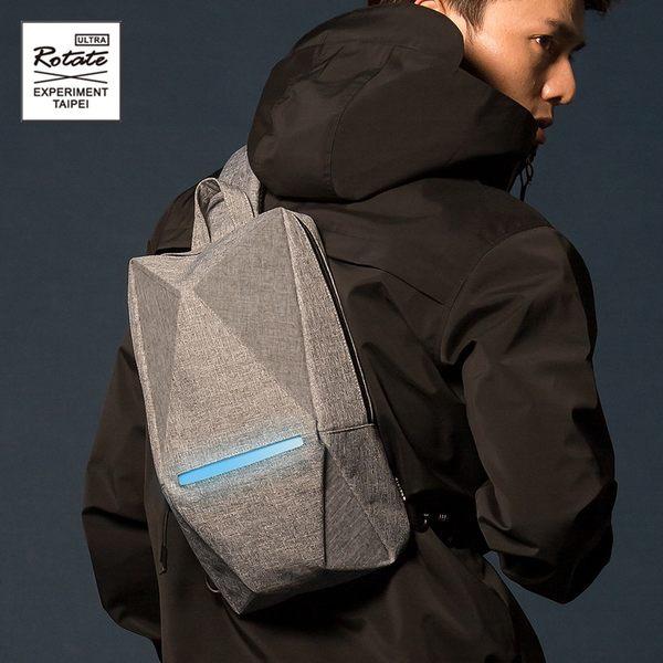 ROTATE GEOMETRY 立體幾何胸包腰包 原創 防水發光折紙包 反光安全多功能 側背包 機能斜背包 AD