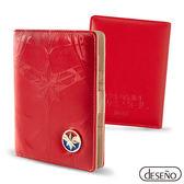 DESENO Marvel 漫威英雄 胸甲浮雕護照夾 驚奇隊長 B1135-0009
