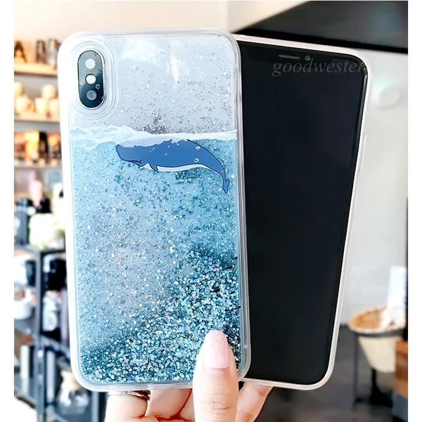 華為手機殼P20 P30 Mate20Pro Nova3手機殼Nova3i Nova3e軟殼Nova4e保護殼  閃粉流沙鯨魚 海豚全包邊
