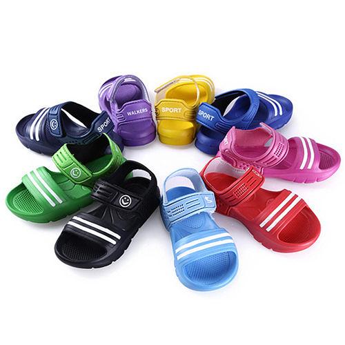 男女童 軟底雙線簡約魔鬼氈 涼鞋 休閒鞋 59鞋廊