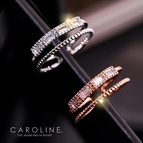 《Caroline》★韓國熱賣造型時尚  鋯石崁鑲 閃耀非凡戒指71221
