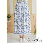 【Tiara Tiara】蒲公英印花長裙(水藍)