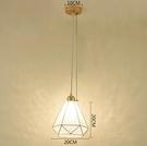 LED餐廳吊燈現代簡約飯廳燈美式直圓盤三頭吧臺吊燈創意餐桌燈具 亞斯藍