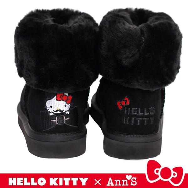 HELLO KITTY X Ann'S 俏皮達利真皮雪靴禮盒-黑