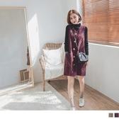 《DA7136-》學院風格紋毛呢背心裙/洋裝 OB嚴選