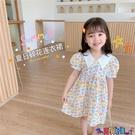 兒童連身裙 女童夏裝短袖連身裙2021新款兒童淑女襯衫領公主裙寶寶洋氣裙子 618狂歡