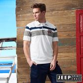 【JEEP】美式冒險簡約短袖POLO衫 (白)