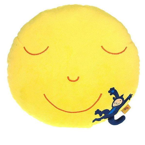 歐德傢俱-幾米月亮微笑圓型抱枕