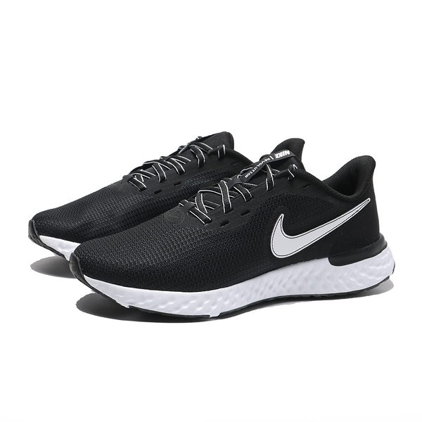 NIKE 慢跑鞋 REVOLUTION 5 EXT 黑白 運動 休閒鞋 情侶 男女(布魯克林) CZ8591-001