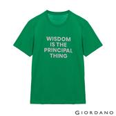 【GIORDANO】男裝英文標語印花T恤 - 43 高爾夫綠