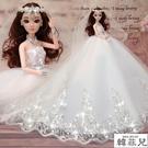 仿真娃娃 樂菲芭比婚紗娃娃套裝大禮盒超大60厘米仿真洋娃娃玩具女孩公主 雙12