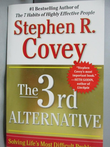【書寶二手書T3/大學商學_ZKB】The 3rd Alternative: Solving Life's Most D
