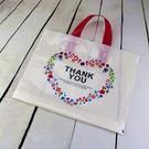 10入 感謝花圈 塑膠手提袋 包裝袋 P...