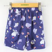 【愛的世界】小魚派對純棉鬆緊帶印花短褲/4歲-台灣製-n4  ★春夏下著
