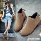 韓版秋季新款英倫百搭女靴平底短靴網紅女鞋單靴女馬丁靴粗跟 時尚芭莎