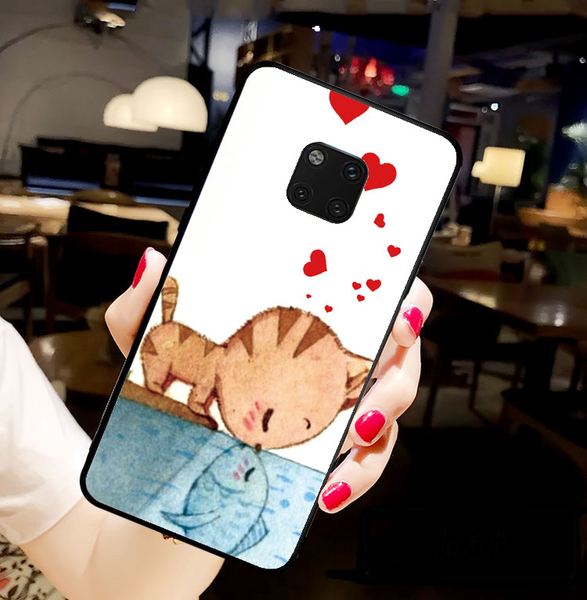 [mata20pro 軟殼] 華為 HUAWEI Mate 20 Pro 手機殼 保護套 外殼 貓戀魚
