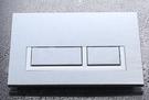 【麗室衛浴】埋壁水箱按鈕銀色雙段冲水面板K 5131