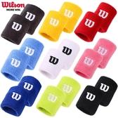 Wilson毛巾護腕吸汗籃球運動男擦汗女護套帶手腕護具健身跑步裝備
