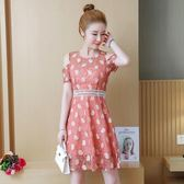 露肩洋裝夏季新款波點連衣裙收腰顯瘦氣質A字裙女裝polo裙子 EY4274 『優童屋』