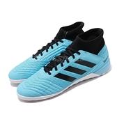 【六折特賣】adidas 室內足球鞋 Predator 19.3 IN 藍 黑 高筒 男鞋 愛迪達 運動鞋【ACS】 F35615