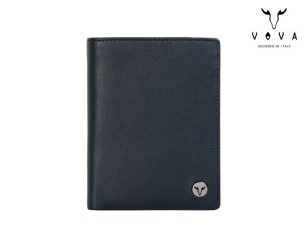 【寧寧*台中老店】BRAUN BUFFEL 小金牛 沃汎 VOVA 牛皮超薄特薄藍色名片夾證件夾信用卡夾 926-2