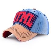 棒球帽-牛仔布字母抽鬚磨破生日情人節禮物男女鴨舌帽3色73da12【時尚巴黎】