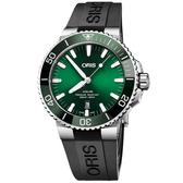 綠水鬼 Oris豪利時 Aquis 時間之海潛水300米日期機械錶-43.5mm 0173377304157-0742464EB