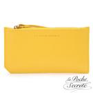 La Poche Secrete 簡約真皮實用卡夾零錢手拿包-亮麗黃 ABD-LP031