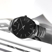 CK / K4D21441 / 簡約時尚 礦石強化玻璃 瑞士製造 不鏽鋼手錶 鍍黑 38mm