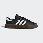 ADIDAS SAMBAROSE W [B28156] 女鞋 運動 休閒 經典 增高 厚底 舒適 抗菌 愛迪達 黑