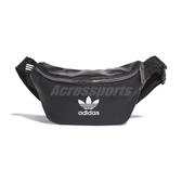 adidas 腰包 Waist Bag 黑 白 男女款 運動休閒 斜背包 小包包 皮革 【ACS】 EJ6272