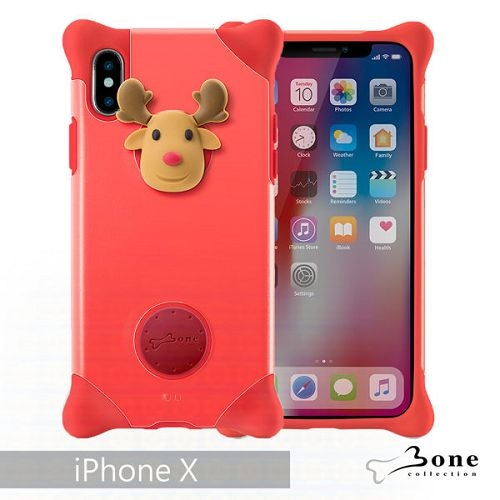 Bone iPhone X 泡泡保護套 紅-麋鹿 手機殼