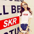 SKR Box 男女短袖T恤 白色 短t...